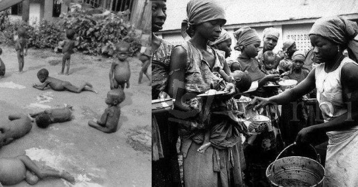 These are some of the gruesome images of Biafran Children and women who suffered Kwashioko as a result of the total blockade of the Biafran nation by the Nigerian government. It is estimated that over 3 million Biafrans were killed during this 3-yrs. war between 1967and 1970. May the souls of the Biafran fallen Heroes rest in Peace. Amen!
