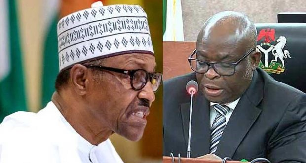 Picture of President Buhari and Ex CJN Walter Onnoghen