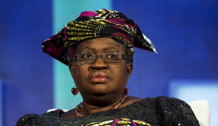Dr Mrs. Ngozi Okonjo-Iweala, New DG of WTO, Chair-Elect of GAVI and Former Finance Minister of Nigeria, takes part in a panel during the Clinton Global Initiative's annual meeting in New York, September 27, 2015.