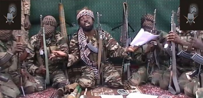 A screengrab taken on July 13, 2014 from a video released by the Nigerian Islamist extremist group Boko Haram and obtained by AFP shows the leader of the Nigerian Islamist extremist group Boko Haram, Abubakar Shekau.