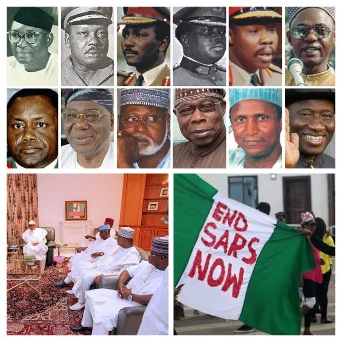 Buhari & The Northern Governors; Pictures Do Speak A Thousand Words! Interpret As It Pleases You &Out of The 60 Years Since Nigeria's Independence, The Fulanis From The North Have Governed for 43 of Those Years plus #EndSARS project