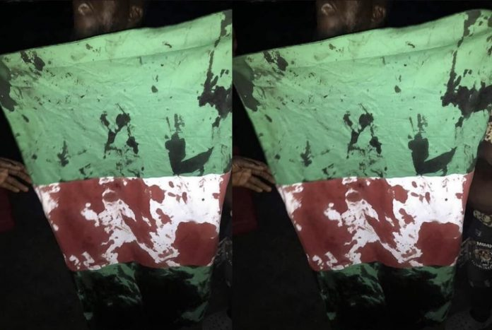 Picture of Nigeria's Flag soaked in blood