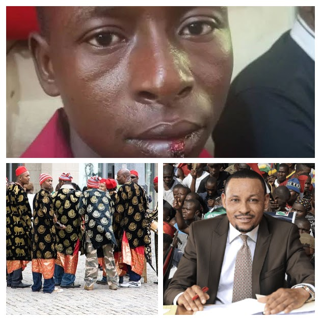 A collage of the Street Fighter Judge Danladi Umar, Chairman of the Code of Conduct Tribunal, the man he assaulted,a security guard identified as 22-year-old Clement Sargwak and image of Ndigbo (Biafrans)