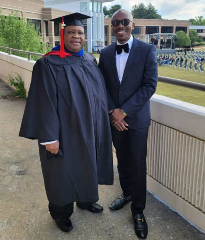 Davido's Uncle, Ademola Adeleke, who is popularly referred to as Dancing Senator, bagged a degree in Criminal Justice from the Atlanta Metropolitan State College on May 7 2021