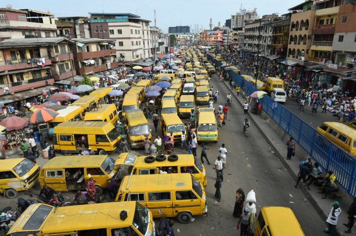 An aerial view of a Nigerian city most probably Lagos