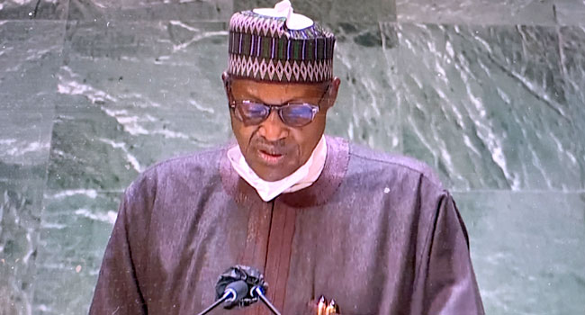 President Muhammadu Buhari addressed world leaders at the 76th Session of the United Nations General Assembly
