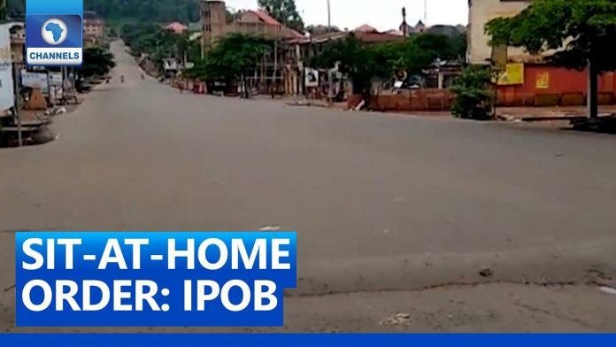 Businesses Shut, Streets Deserted In The South East of Nigeria Amid IPOB's Sit-At-Home Order